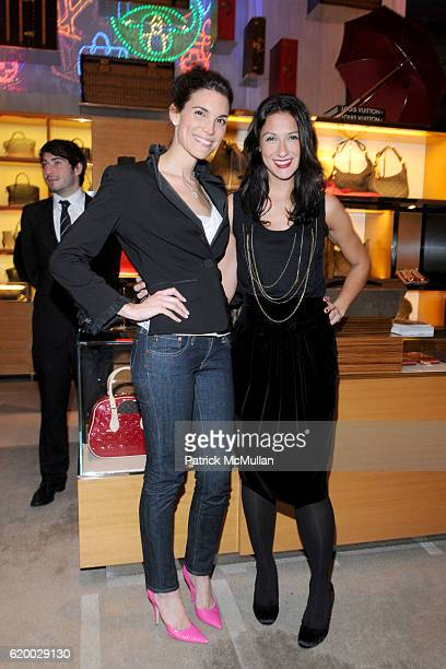 Amy Erbesfeld and Lauren Silverstein attend LOUIS VUITTON TEEN VOGUE Holiday Celebration with AMY ASTLEY at Louis Vuitton on December 11 2008 in New...
