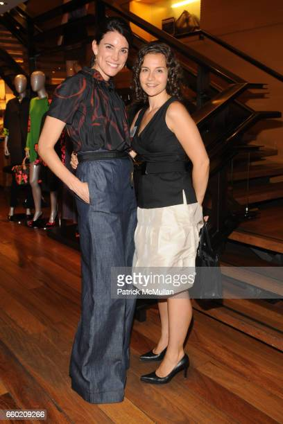 Amy Erbesfeld and Sara Holoubek attend STEP UP Salon at LOUIS VUITTON Soho at Louis Vuitton Soho on July 15 2009 in New York City