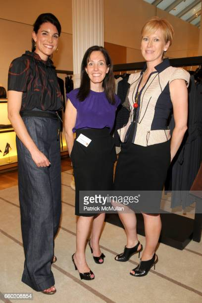 Amy Erbesfeld Elizabeth Harrison and Joanna Coles attend STEP UP Salon at LOUIS VUITTON Soho at Louis Vuitton Soho on July 15 2009 in New York City