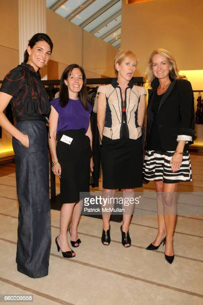 Amy Erbesfeld Elizabeth Harrison Joanna Coles and Heather Vanderberghe attend STEP UP Salon at LOUIS VUITTON Soho at Louis Vuitton Soho on July 15...