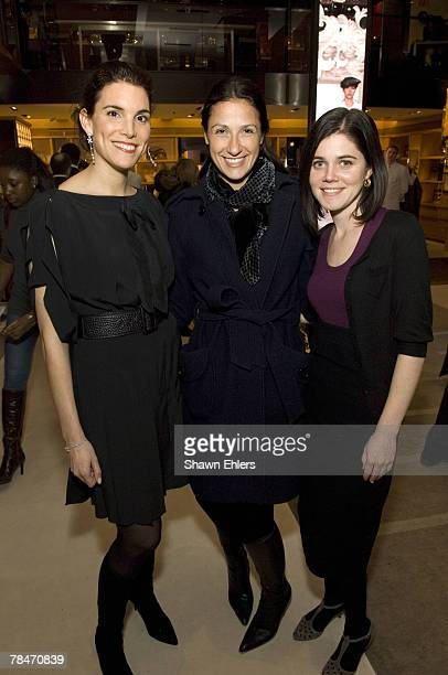 Amy Erbesfeld Lauren J Silverstein and Evie McGee attend Louis Vuitton and The New Yorker at LV Fifth Avenue on December 13 2007 in New York CIty