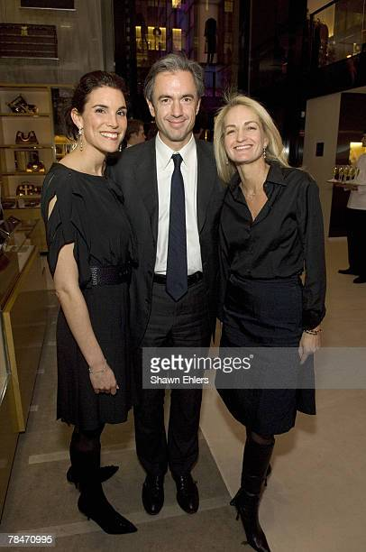 Amy Erbesfeld President and CEO of Louis Vuitton Daniel Lalonde and guest at Louis Vuitton and The New Yorker at LV Fifth Avenue on December 13 2007...
