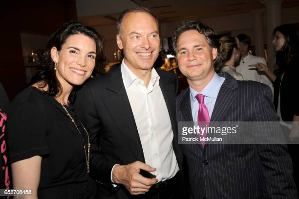 Amy Erbesfeld Renaud Dutreil and Jason Binn attend LOUIS VUITTON Friends of the House Summer Cocktail Party at Louis Vuitton on June 9 2009 in New...