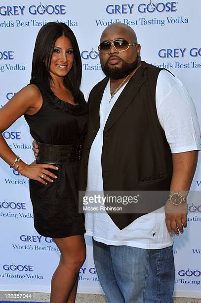 Amy Eslami and Jazze Pha attend the Grey Goose summer soiree on July 1 2010 in Atlanta Georgia