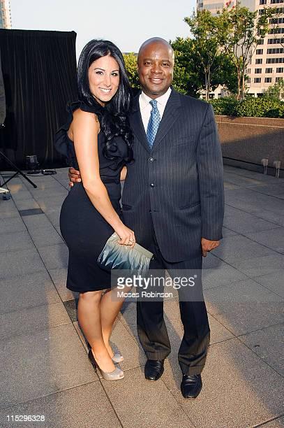 Amy Eslami and Jesse Starr attends the Bacardi Mojito Masterclass at Four Seasons Atlanta on August 18 2008 in Atlanta Georgia