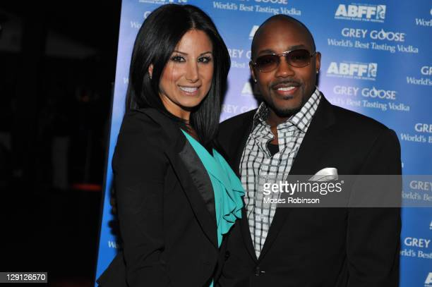 Amy Eslami and movie producer Will Packer attend the American Black Film Festival Atlanta Buzz Party at Luxe Ultra Lounge on April 28 2011 in Atlanta...