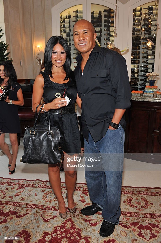 Amy Eslami and NFL player Hines Ward attend the Grey Goose summer soiree on July 1, 2010 in Atlanta, Georgia.