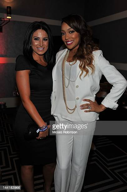 Amy Eslami and recording artist Monica attends the Welcome to Hotel Noir event at W Hotel Buckhead on May 10 2012 in Atlanta Georgia