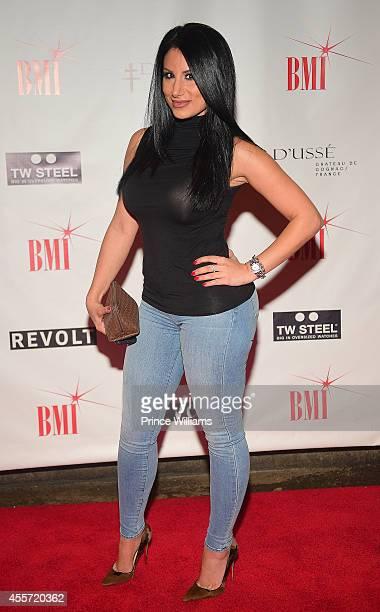 Amy Eslami attends BMI dinner honoring Future at 10 degrees South Restaurant on September 18 2014 in Atlanta Georgia