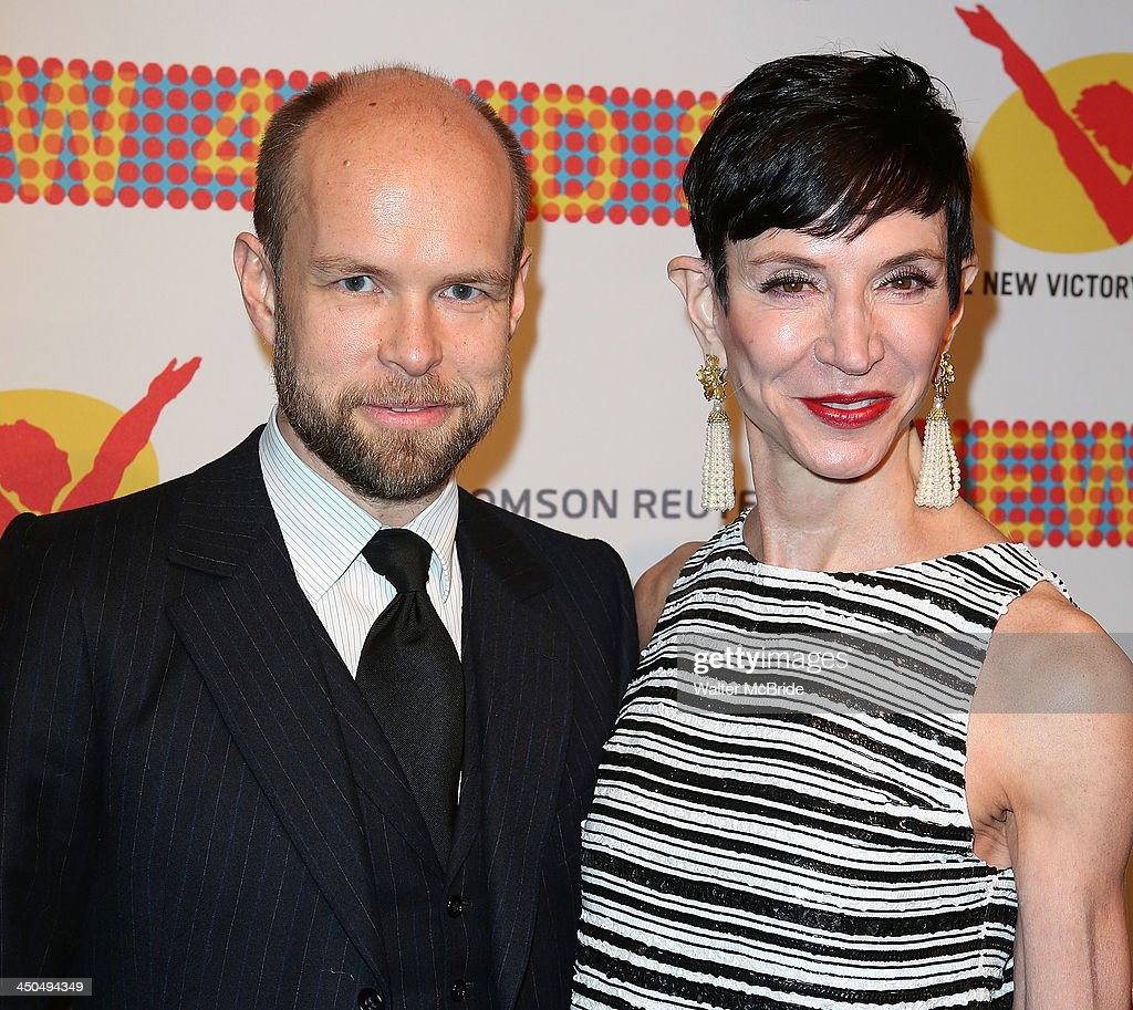 Amy Fine Collins and guest attend The New 42nd Street 2013 New Victory Arts Awards Gala dinner at The New Victory Theater on November 18, 2013 in New York City.