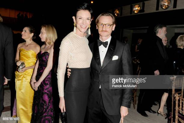 Amy Fine Collins and Hamish Bowles attend NEW YORK CITY BALLET 2009 Winter Gala Dinner Dancing at David H Koch Theater on November 24 2009 in New...