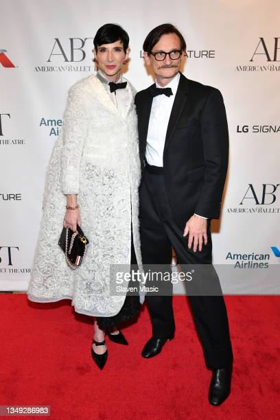 Amy Fine Collins and Hamish Bowles attend the American Ballet Theatre Fall Gala at David H. Koch Theater at Lincoln Center on October 26, 2021 in New...