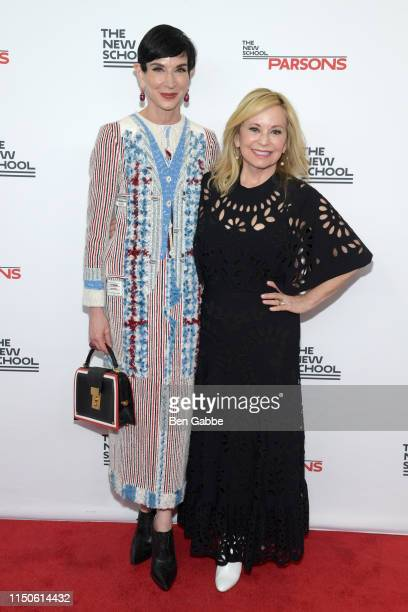 Amy Fine Collins and Julie Wainwright attend the 71st Annual Parsons Benefit honoring Pharrell, Everlane, StitchFix & The RealReal on May 20, 2019 in...