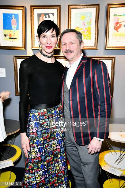 Amy Fine Collins and Richard Slusarczyk attend 2019 Bailey House Gala Auction at Pier 60 Chelsea Piers on March 07 2019 in New York City