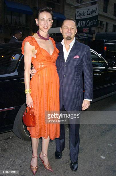 Amy Fine Collins and Richard Slusarczyk during Martha Graham Dance Company Opening Night Gala at The City Center in New York City New York United...
