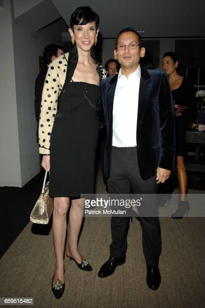 Amy Fine Collins and Santiago Barberi Gonzalez attend Santiago Barberi Gonzalez hosts intimate dinner for Pamela Golbin to celebrate the launch of...