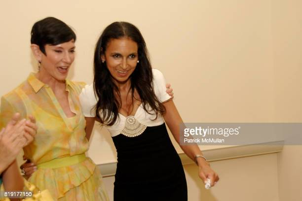 Amy Fine Collins and Susan FalesHill attend Susan FalesHill's ONE FLIGHT UP Book Launch Party at 15 Central Park West on July 21st 2010 in New York...