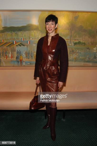 Amy Fine Collins attends Andre Leon Talley and Robert Burke host at La Caravelle for Loulou de la Falaise Collection on February 12 2004