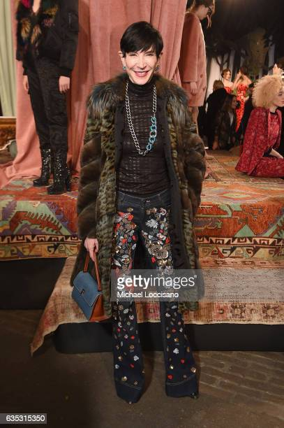 Amy Fine Collins attends the alice olivia by Stacey Bendet Fall 2017 Presentation at Highline Stages on February 14 2017 in New York City