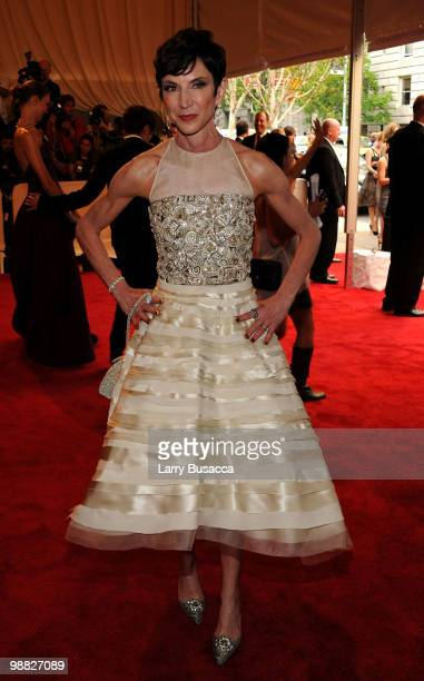 Amy Fine Collins attends the Costume Institute Gala Benefit to celebrate the opening of the 'American Woman Fashioning a National Identity'...