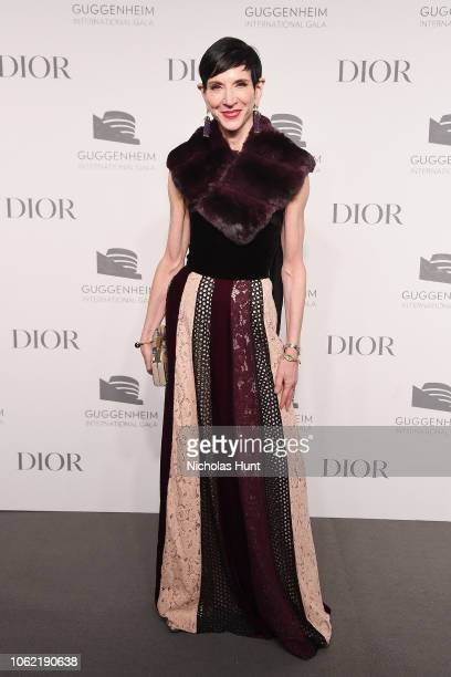 Amy Fine Collins attends the Guggenheim International Gala Dinner made possible by Dior at Solomon R Guggenheim Museum on November 15 2018 in New...