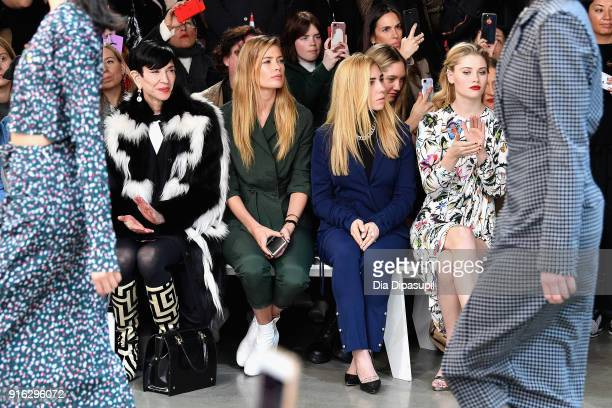 Amy Fine Collins Doutzen Kroes Zosia Mamet and Virginia Gardner attend the Jason Wu front row during New York Fashion Week The Shows at Gallery I at...