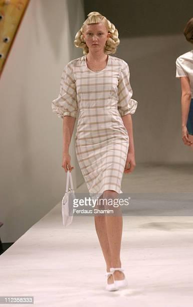 Amy Finlayson wearing Peter Jensen Spring/Summer 2006