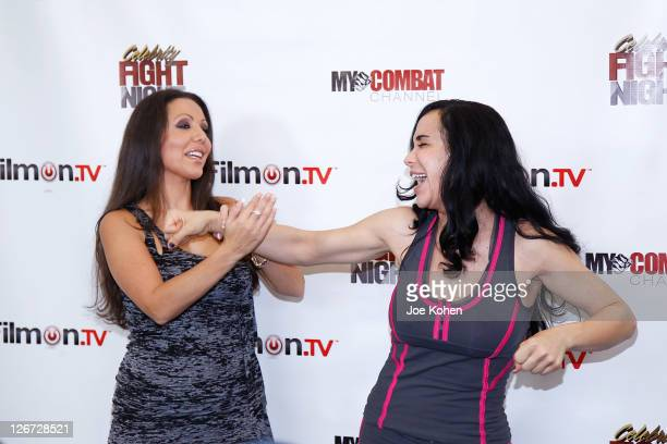 Amy Fisher and Nadya Octomom Suleman attend Celebrity Fight Night Official Press Conference on September 26 2011 in Beverly Hills California