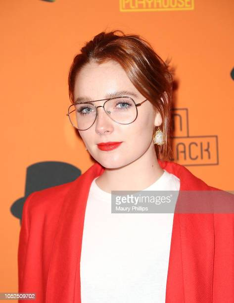 Amy Forsyth arrives at the Opening Night Performance of 'The Woman In Black' at the Pasadena Playhouse on October 18 2018 in Pasadena California