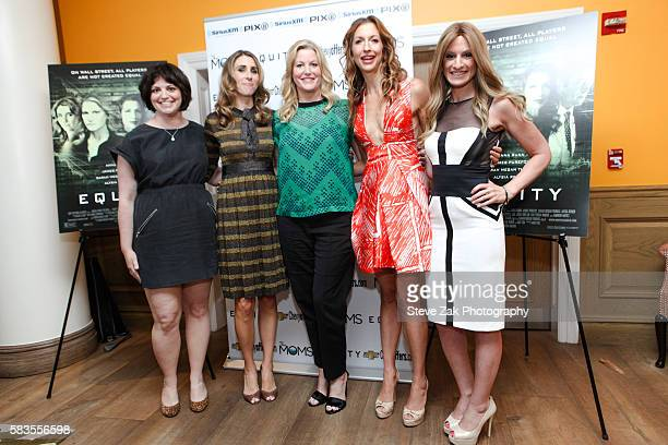 Amy Fox Sarah Megan Thomas Anna Gunn Alysia Reiner and Denise Albert attend the Mamarazzi screening Of 'Equity' at Crosby Street Theater on July 26...