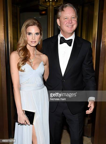 Amy France CEO and Chairman of NASCAR and Brian France and President CoFounder of Gabrielle's Angel Foundation Denise Rich attend Angel Ball 2015...