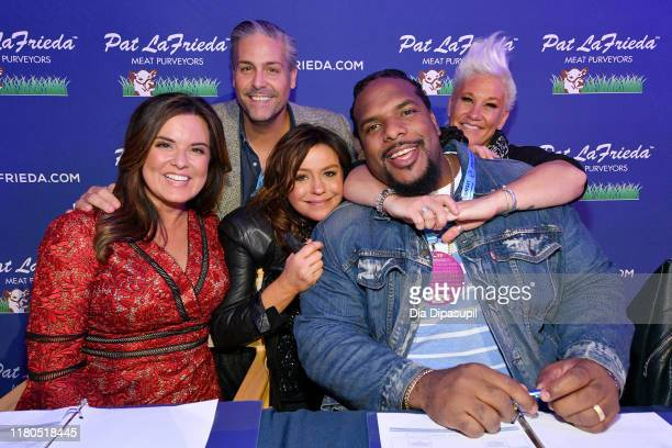 Amy Freeze Mike Puma Rachael Ray Willie Colon and Anne Burrell attend the Blue Moon Burger Bash presented by Pat LaFrieda Meats hosted by Rachael Ray...