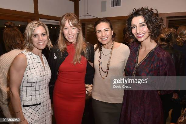 Amy FriedrichKarnik Alexis Sterling Shila Ommi and Necar Zadegan attend A Conversation with the Center for Reproductive Rights at Private Residence...
