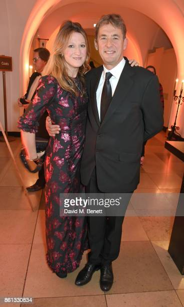 Amy Gadney and Tim Bevan attend a cocktail reception at the 61st BFI London Film Festival Awards at Banqueting House on October 14 2017 in London...