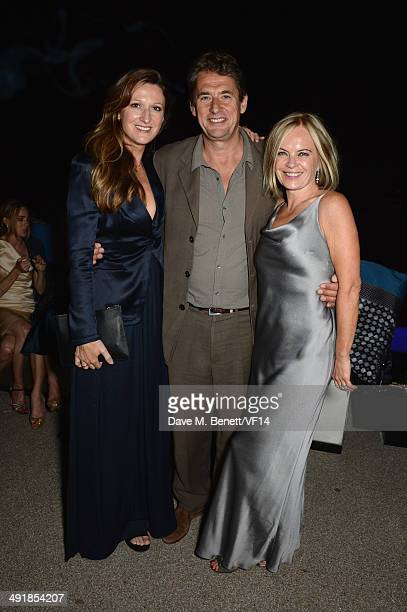 Amy Gadney and Tim Bevan attend the Vanity Fair And Armani Party at the 67th Annual Cannes Film Festival on May 17 2014 in Cap d'Antibes France