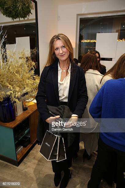 Amy Gadney attends the Loquet Christmas Cocktail event at the Loquet PopUp Store on December 1 2016 in London England