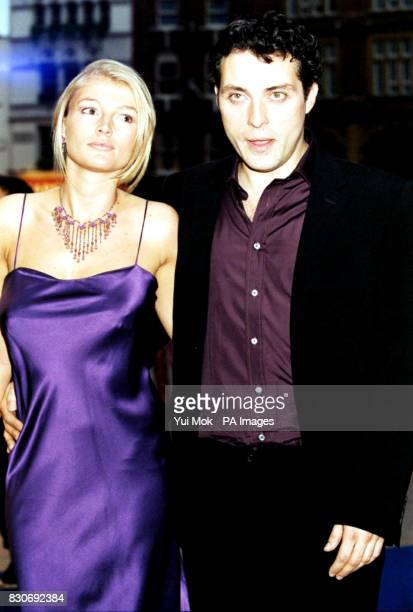 Amy Gardner and actor Rufus Sewell arrive at the Odeon Cinema in London's Leicester Square for the premiere of A Knight's Tale