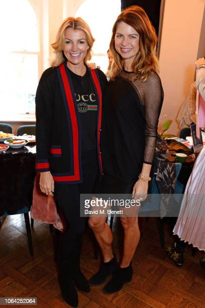 Amy Gardner and Gabriela Peacock attend an exclusive breakfast hosted by Malin Jefferies to celebrate the launch of Malin Darlin at Laylow on...