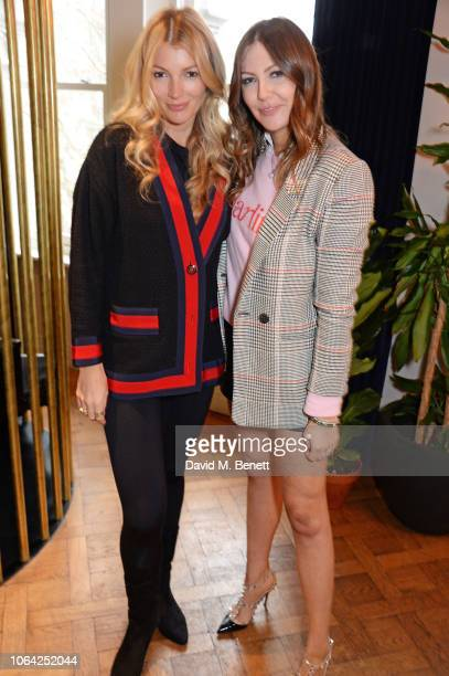 Amy Gardner and Tali Shine attend an exclusive breakfast hosted by Malin Jefferies to celebrate the launch of Malin Darlin at Laylow on November 22...