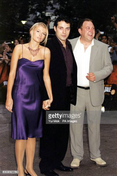 Amy Gardner Rufus Sewell and Mark Addy arriving at Odeon Cinema in London's Leicester Square for the premiere of A Knight's Tale