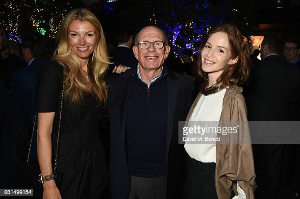 Amy Gardner Tom Whidden and guest attend the Boat International Ocean Awards at Restaurant Ours on January 11 2017 in London England