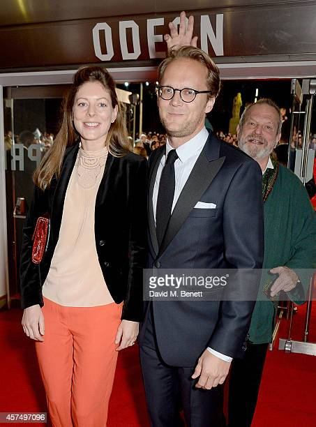 Amy Gilliam and guest with Terry Gilliam attending the closing night Gala screening of 'Fury' during the 58th BFI London Film Festival at Odeon...
