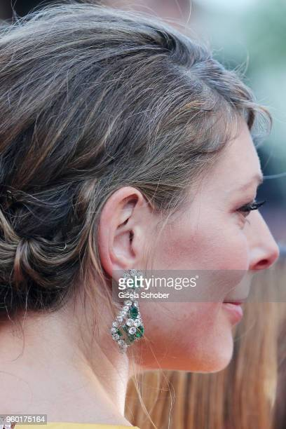 Amy Gilliam earring detail attends the Closing Ceremony and screening of 'The Man Who Killed Don Quixote' during the 71st annual Cannes Film Festival...