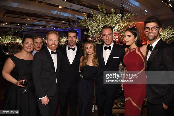 Amy Goldstein Paul Sparks Jesse Tyler Ferguson Cameron Pangrle Alex Fromer Tucker Gurley Lauren Taylor and Justin Mikita attend the 8th Annual...