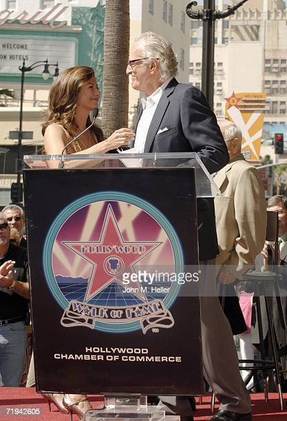 Amy Grant and Jerry Moss Cofounder of A M Records attend the unveiling of her star on The Hollywood Walk of Fame September 19 2006 in Hollywood...