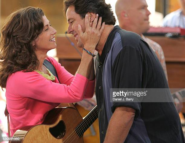 Amy Grant and Vince Gill during Amy Grant Performs on the 2005 NBC's 'The Today Show' Summer Concert Series at Rockefeller Plaza in New York City New...