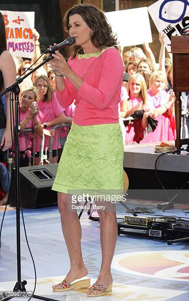 Amy Grant during Amy Grant Performs on the 2005 NBC's 'The Today Show' Summer Concert Series at Rockefeller Plaza in New York City New York United...
