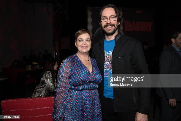 Amy Gravitt and Martin Starr attend the after party for the premiere of HBO's 'Barry' at NeueHouse Hollywood on March 21 2018 in Los Angeles...
