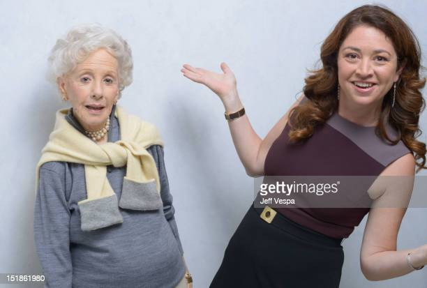 Amy Greene and director/producer Liz Garbus of 'Love Marilyn' pose at the Guess Portrait Studio during 2012 Toronto International Film Festival on...