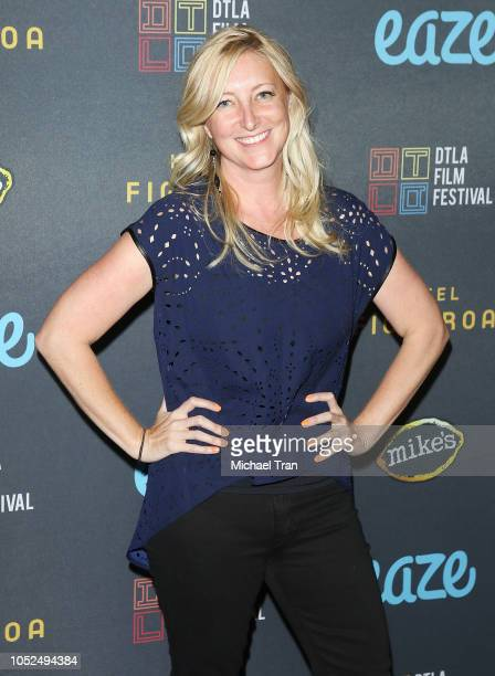 Amy Greene attends the 2018 Downtown Los Angeles Film Festival 'All Creatures Here Below' 'Original Sin' And Perception' Press line held at Regal LA...
